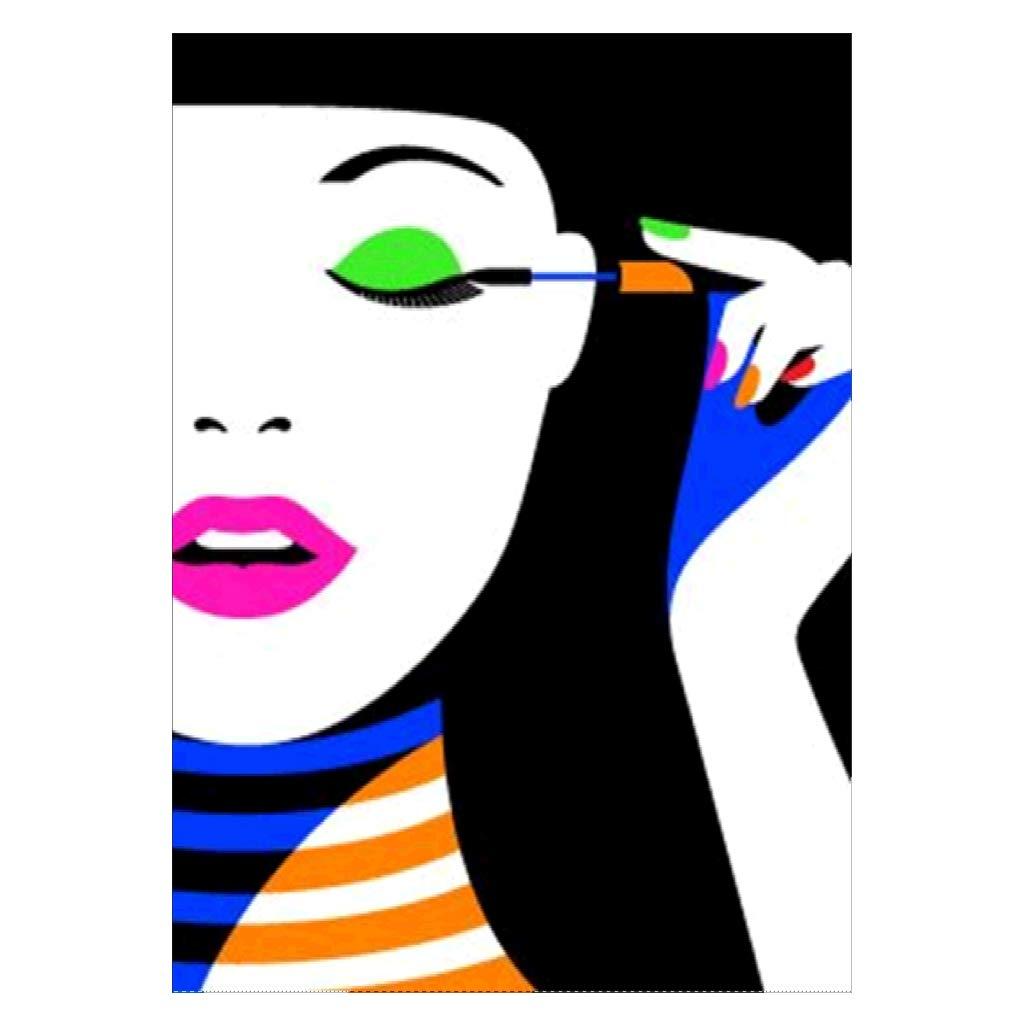 5D ダイヤモンド クロスステッチ ラインストーン ペインティング 美しい女の子 DIY 手作り 刺繍 絵画セット B07GF789K4