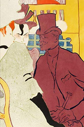 Art Journal: Henri de Toulouse-Lautrec - An Englishman at the Moulin Rouge - Art Cover College Ruled Notebook | 110 Pages