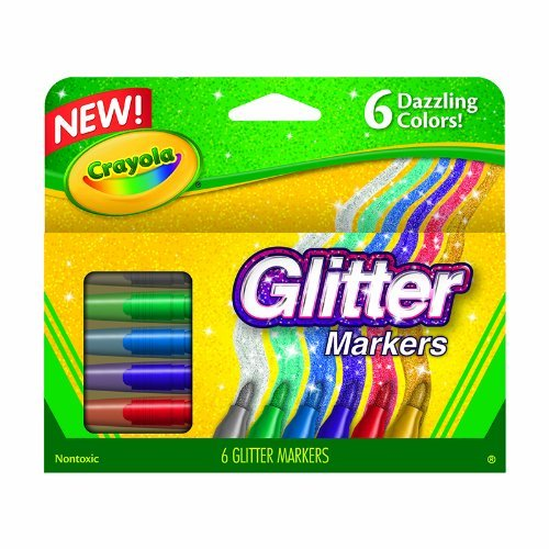 Crayola Glitter Markers Dazzling Colors Pkg