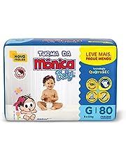 Fralda Turma da Monica Baby Giga G 80 Unidades, Turma da Mônica Baby, Azul, G