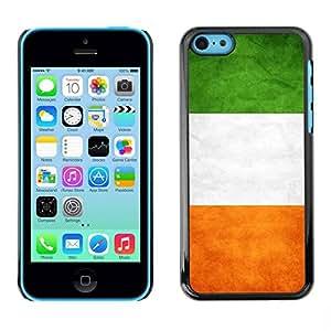 PC/Aluminum Funda Carcasa protectora para Apple Iphone 5C National Flag Nation Country Ireland / JUSTGO PHONE PROTECTOR