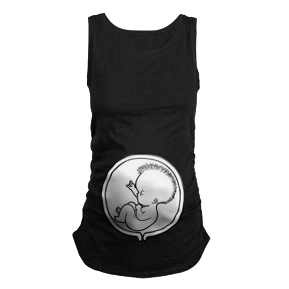 Q.KIM Pregnancy Tee Sleeveless Maternity Tank Tops Funny Pregnant Women T shirts Manufacturer