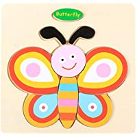 Educational Wooden Puzzle for Kids Animal and Vehicle Patterns - Butterfly