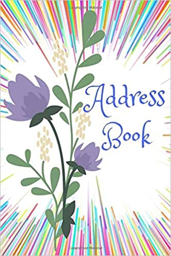 address book a 6x9 inch 134 page multi colored design with a