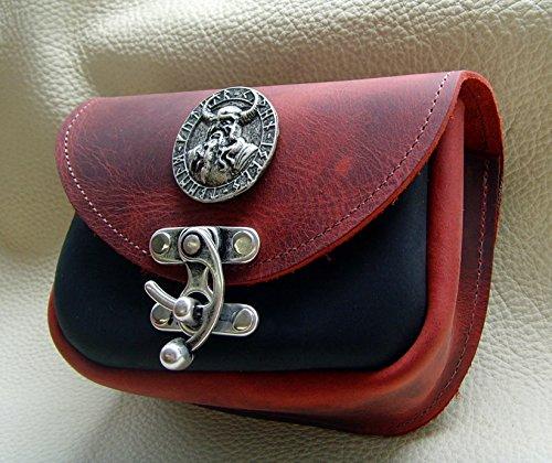 Gürteltasche Odin Amulette Farbe schwarz-rot Bauchtasche Hakenverschluß