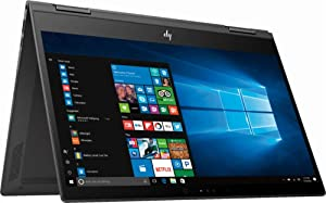 "Newest HP Envy X360 2-in-1 13.3"" FHD IPS Touchscreen Thin and Lightweight Laptop, AMD Ryzen 5 Quad-core 2.0 GHz, 8GB DDR4 RAM, 512GB SSD, Backlit Keyboard, USB-C, WiFi, Bluetooth, Windows 10"