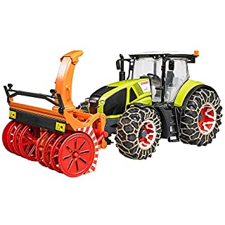 Bruder Claas Axion 950 with Snow Chains & Snow Blower