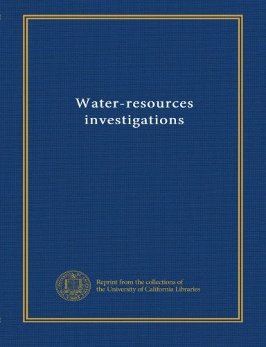 Water-resources investigations (v.98 no. 4040) pdf