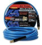 Workforce Air Hose, 3/8 in. x 50 ft, 1/4 in. Fittings, PVC, Blue - HWF3850BL2