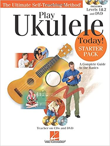 play ukulele today starter pack includes levels 1 2 book cds and a dvd
