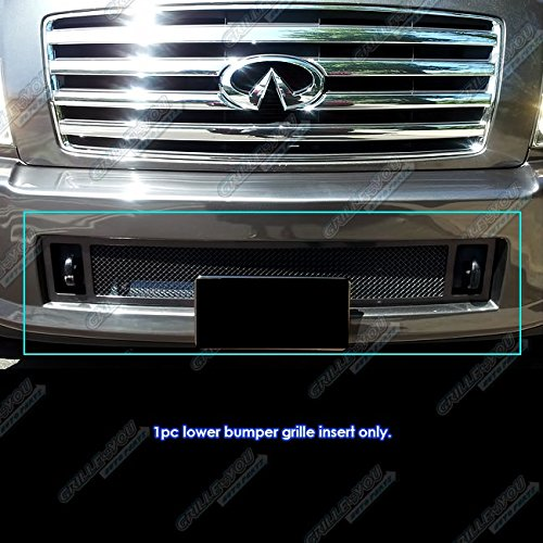APS N75448H Black Powder Coated Grille Replacement for select Infiniti QX56 Models (Infiniti Qx56 Parts)