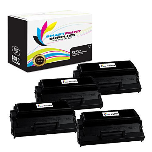 Smart Print Supplies Compatible 08A0477 Black High Yield Toner Cartridge Replacement for Lexmark Optra E320 E322 Printers (6,000 Pages) - 4 Pack