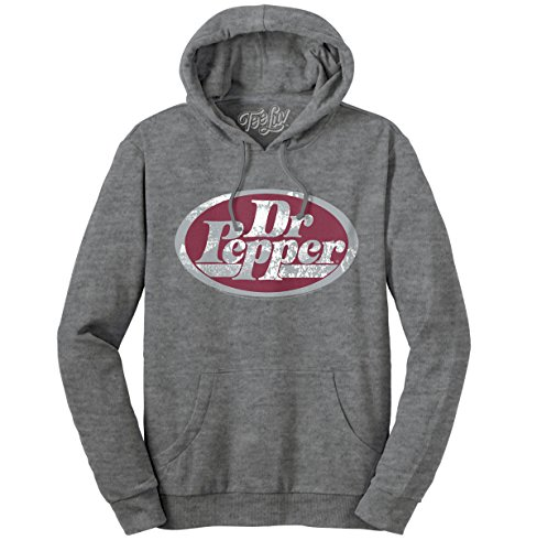 Tee Luv Dr. Pepper Hoodie - Distressed Dr Pepper Logo Hooded Sweatshirt (X-Large)
