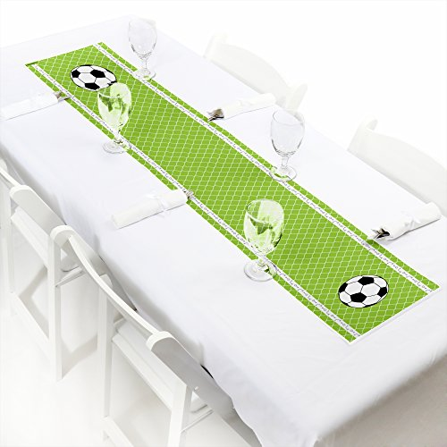 Big Dot of Happiness GOAAAL! - Soccer - Petite Baby Shower or Birthday Party Paper Table Runner - 12'' x 60'' by Big Dot of Happiness