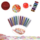 33 Pack Slime Making Kits Supplies,Fishbowl Beads,Foam Balls,Glitter Shake Jars,Fruit Flower Candy Slices Accessories,DIY Art Craft for Homemade Slime, Wedding and Party Decoration