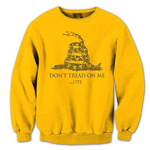 Dont Tread On Me Gadsden Flag Snake Mens Sweatshirt Medium Gold