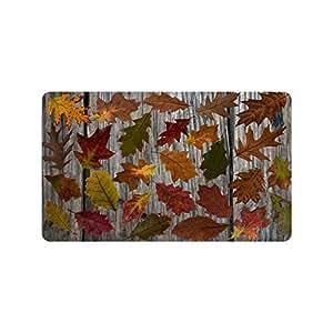 Naturaleza estaciones otoño colorido hojas caídas resistente para interiores/al aire libre Floor Mat Doormats 30x 18cm (tamaño grande)