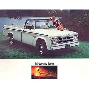 1968 Dodge Adventurer D200 Pickup Truck Camper Brochure