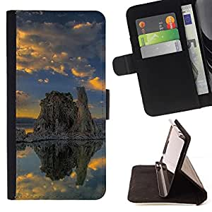 For LG Nexus 5 D820 D821 Case , Naturaleza Hermosa Forrest Verde 165- la tarjeta de Crédito Slots PU Funda de cuero Monedero caso cubierta de piel