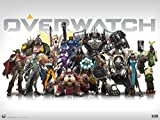 Overwatch Gaming Birthday Party Edible Frosting Image 1/2 sheet Cake Topper