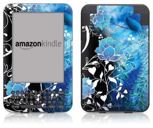 DecalGirl Kindle Skin (Fits Kindle Keyboard) Peacock Sky (Matte ()