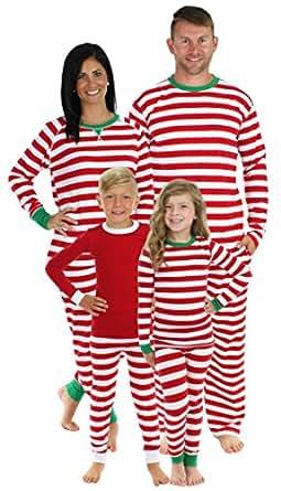 Sleepyheads Red Stripe Family Matching Pajama Set - Kids - Red Top (SHM-3009-K-RED-2T)