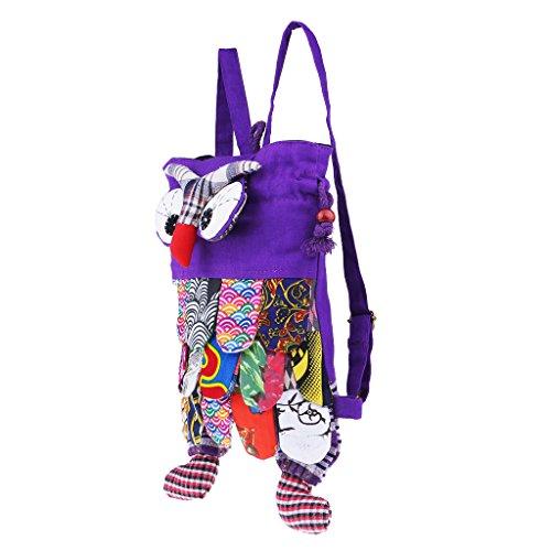 Anniversaire DOLITY Dos Violet Bande de Hibou Ami Copain Sac pour Fête Cadeau Forme à en de D Réglable Ad1qWO4cA