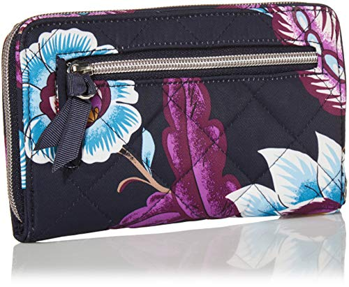 Vera Bradley Women's Performance Twill Turnlock Wallet with RFID Protection