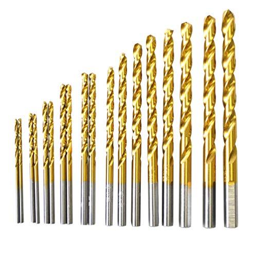 BOSTAL 18PCS Drill Bit Set M35 Cobalt Steel Twist Drill Set Jobber Length 1/16 3/32 1/8 1/4 5/64 3/32 7/64 1/8 9/64 5/32 11/64 3/16 13/64 7/32 15/65 1/4 bits - Jobber Drill Length 64