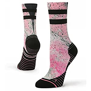 Stance Women's Fusion Athletic Recovery Crew Height Medium (shoe size 8-10.5) (Pink)