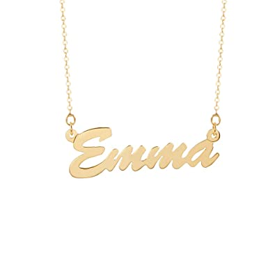 Amazon.com  Eve s Addiction Custom Gold Plated Thin Script Style Nameplate  Necklace 67f36fed6