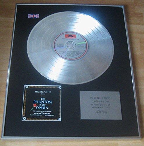 PHANTOM OF THE OPERA - Limited Edition CD Platinum Disc -...