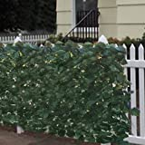 Best Choice Products Faux Ivy Privacy Fence Screen 94'' X 39'' Artificial Hedge Fencing Outdoor Decor