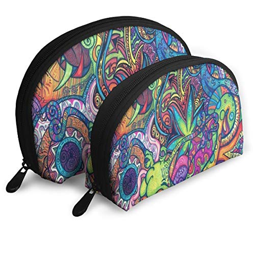 Makeup Bag Mad Hippie Portable Shell Storage Bag For Mother Travel 2 Pack -