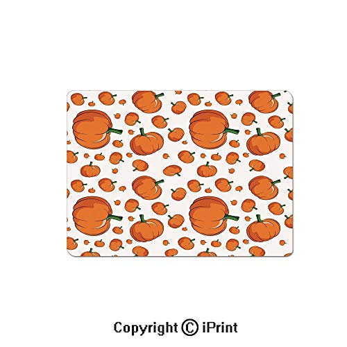 Large Gaming Mouse Pad Halloween Inspired Pattern Vivid Cartoon Style Plump Pumpkins Vegetable Decorative Extended Mat Desk Pad Mousepad Non-Slip Rubber Mice Pads 9.8