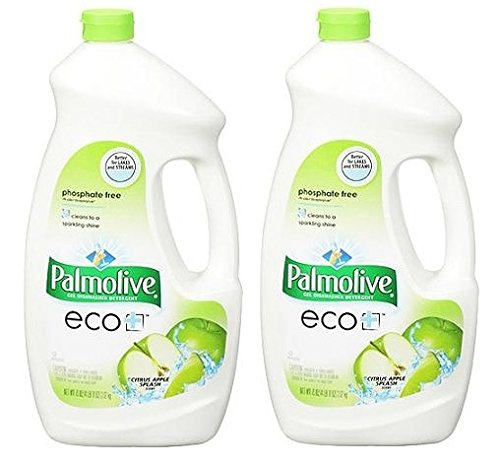 2 Pk, Palmolive ECO Dishwasher Liquid Detergent Citrus Apple Splash, 75 Oz