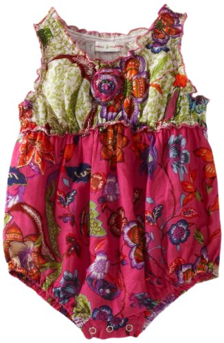 MIMI & MAGGIE Baby-girls Infant Catch Me if You Can Romper Set