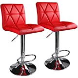 Leader Accessories Modern Swivel Red Bar Stool Diagonal Line Hydraulic Adjustable Bar StoolsSet of 2  sc 1 st  Amazon.com & Amazon.com: Red - Barstools / Home Bar Furniture: Home u0026 Kitchen islam-shia.org