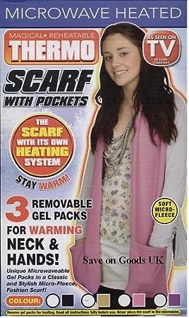 Save On Goods UK Longue écharpe chauffante avec Poches à Chaud. Lavande 7e7a586c1df