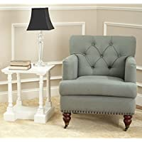 Safavieh Hudson Collection Mario Green-Grey Club Chair