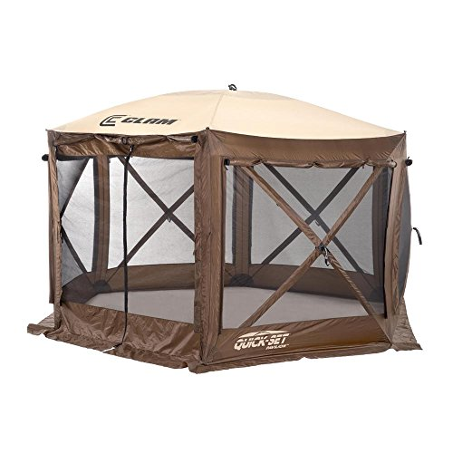 Clam Corporation 9882 Quick-Set Pavilion, 150 x 150-Inch, Brown/Beige