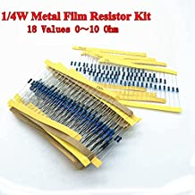 ZQ100WT 240 Pcs 24Values Metal Film Ohm Resistor Pack 4.7K-68K 1/4W 5% Resistor Assorted Kit Set, 24Values x10Pcs= 240Pcs