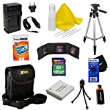 Ideal Accessory Kit for Canon Powershot SX170 IS - Includes: 16 GB memory card, High Capacity NB-6L Rechargeable Replacement Battery, AC/DC (home/car) Rapid Battery chatger, 50'' Light Weight Aluminum Photo/Video Tripod, Protective Digital Camera Carrying