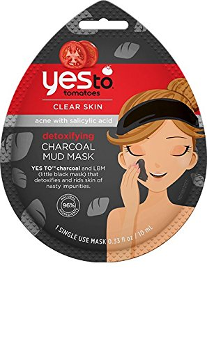Yes To Tomatoes Clear Skin Detoxifying Charcoal Mud Mask (Pack of 6) (Yes To Tomato Face Mask compare prices)