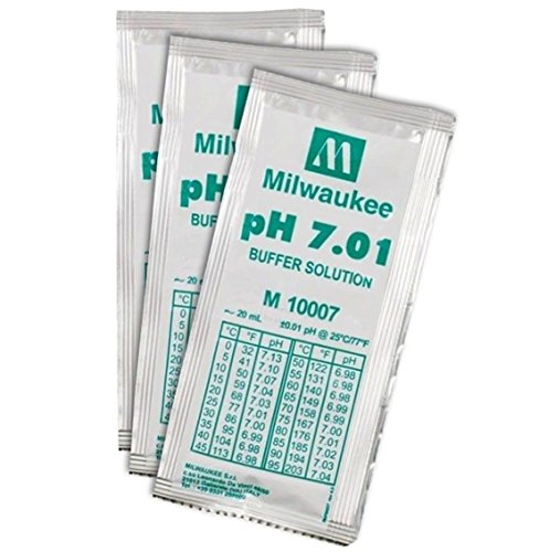 Packet 7.01 Buffer (3 Pcs Perfect Popular pH7.01 Buffer Digital Meter Acid Alkaline Packets Tester Volume 20mL)
