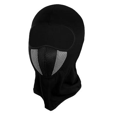 eef167129ab Vbiger Balaclava Ski Mask Windproof Full Face Mask Motorcycle Neck Warmer  (2 Black+)  Amazon.co.uk  Clothing