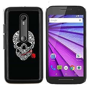 """Be-Star Único Patrón Plástico Duro Fundas Cover Cubre Hard Case Cover Para Motorola Moto G (3rd gen) / G3 ( Cráneo Rojo Sangre rollo de la roca Guitarra Música"""" )"""