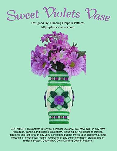 Sweet Violets Vase: Plastic Canvas Pattern