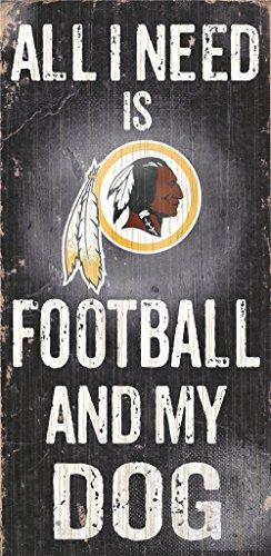 Washington Redskins Wood Sign - Football And Dog ()