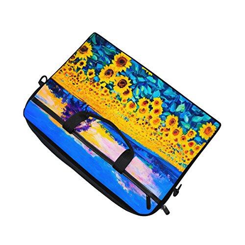 jstel Ölgemälde von Sonnenblumen Laptop Schulter Messenger Tasche Fall Sleeve für 35,6cm zu 39,6cm mit verstellbarer Notebook Schultergurt